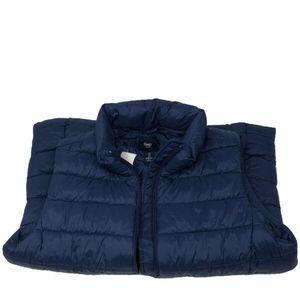 GAP Navy Womens Puffer Zip Up Jacket Vest With